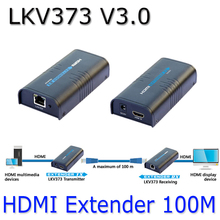 LKV373 V3.0 HDMI Extender Video Sender+Receiver Over Cat5e/Cat6 1080P Up to 100m Ethernet Network transmitter HDMI TX + RX