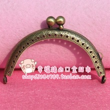 2016 Free Shipping 1pcs Blank Purse Frame Hanger 8.5cm Bronze Metal Clasps Purses Accessories Handbags Diy Bag Parts(China)