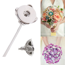 Buy New Trendy Wedding Bouquets Jewelry 31cm Metal Snap Flower Art Accessory DIY Bouquets Fit 18mm Women Snap Button KC1165 for $2.21 in AliExpress store