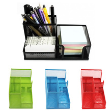 Mesh Hollow Metal Desk Pen Organiser Storage Box Container Drawer for Pen Pencil Card Office Stationery Holder FP8