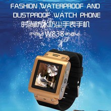 2017 New GSM Watch Waterproof W838 Smart Watch Phone IP67 Support SIM Card JAVA Bluetooth Touch Screen Camera Unlock Watch Phone