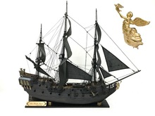 NIDALE ZHL Wooden model ship kits black Pearl of Caribbean pirate ship Golden version 2016 (Free 7 pcs sailor ) English Manual(China)