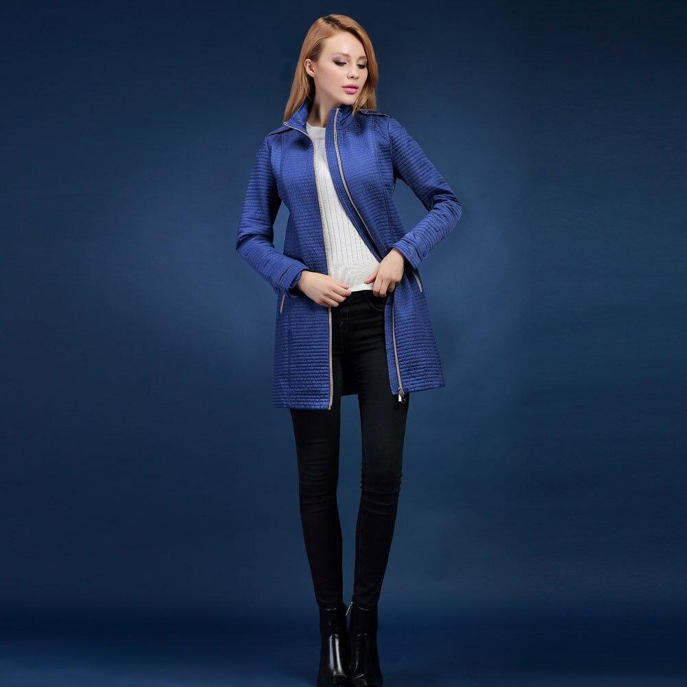 spring and autumn Womens down jacket polychromatic cotton-padded jacket outerwear slim medium-long style coat s-4xl SIC-V509Îäåæäà è àêñåññóàðû<br><br>