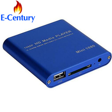 MANYTEL Mini Full Hd 1080p Usb External Hdd Player With SD MMC Card Reader Host Support Mkv Hdmi Hdd Media Player(China)