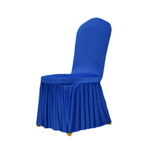 Royal Blue Chair Cover Polyester Spandex Dining Chair Covers For Weddings Decoration Home Hotel Restaurant Chair Cover V20(China)