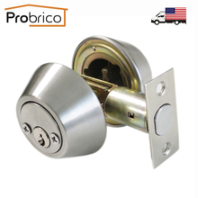 Probrico Stainless Steel Round Home Door Cylinder Security Lock/Deadbolt Safe Key Lock Set DLD102SNDB USA Domestic Delivery(China)