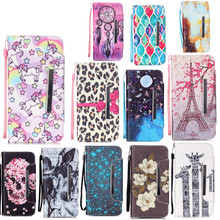 cover for samsung galaxy 2016 A3 A5 A310 A510 Fashion Painted Flower starry sky leather case wallet lanyard card slot bracket