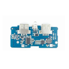 Dual USB 5V 2A 1A Power Bank Charger Module Charging Circuit Board Step Up Boost Power Supply Module Updated Version(China)
