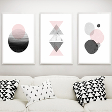 Nordic Geometry Black And White Decoration Painting Wall Pictures For Living Room Canvas Painting Nordic Poster And Prints