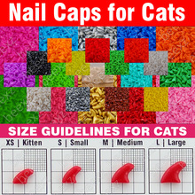 120pcs - Soft Nail Caps for Cats + 6x Adhesive Glue + 6x Applicator /* XS, S, M, L, paw, claw, cover, lot, cat */