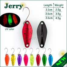 Jerry 1pc 2.5g 3.5g 4.5g mini fishing spoon trout lures fluttering spoons Japanese freshwater fishing lures spinner(China)