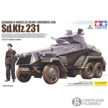OrangeHobby Tamiya 37024 1/35 German 6-Wheeled Heavy Armored Car Sd.Kfz.231 Military Assembly AFV Model Building Kits