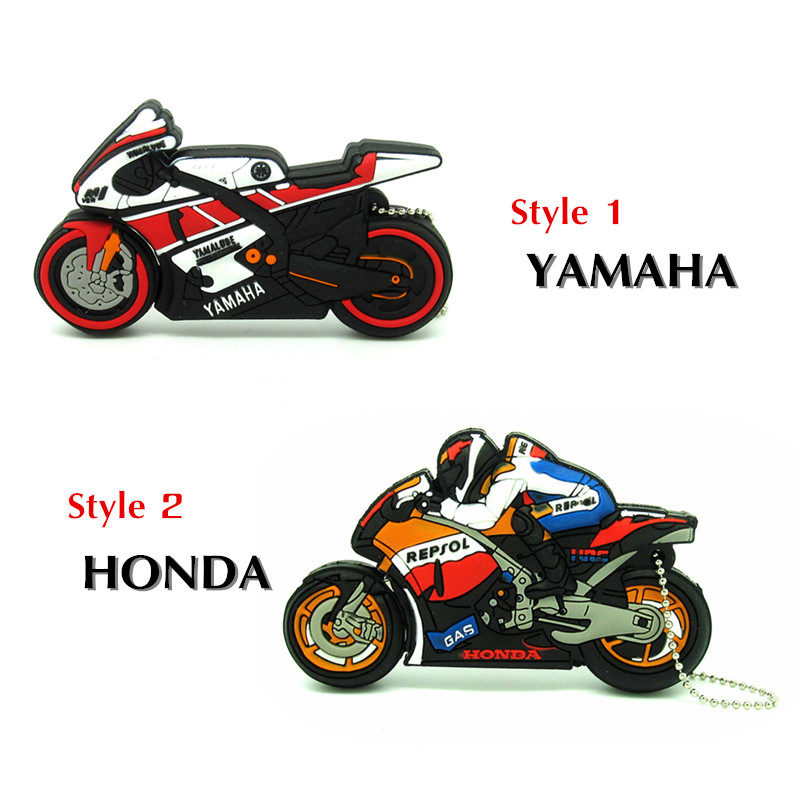 2 style racing motorcycle usb flash drive disk memory stick pendrive Pen drive personalized mini computer gift 4GB 8GB 16GB 32GB(China)