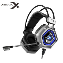 XIBERIA X13 Computer Gaming Headset ecouteur Virtual 7.1 Channel Headband Stereo Game Headphone with Microphone Mic for PC Gamer