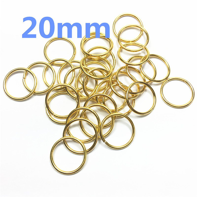 6-Spring Gate D O Ring Openable Keyring Leather Bag Belt Strap Dog Chain Buckle Snap Clasp Clip Trigger Accessories DIY  20mm