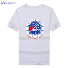 2017 summe Joel Embiid Ben Simmons Markelle Fultz TRUST THE PROCESS t-shirt 100% cotton T Shirt Man casual for fans gift 0705-3(China)