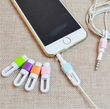 10Pcs/lot Earphone Cable Protector Organizer Headphone Charger Data Line Cord Protection Sleeves Cable Winder For iPhone 5s 6s