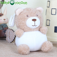 bebecocoon Baby Rattle hand Bell Stuffed Toy Bear Animals Soft Plush Rattle Toy Newborn Infant Playmate Doll Gifts(China)