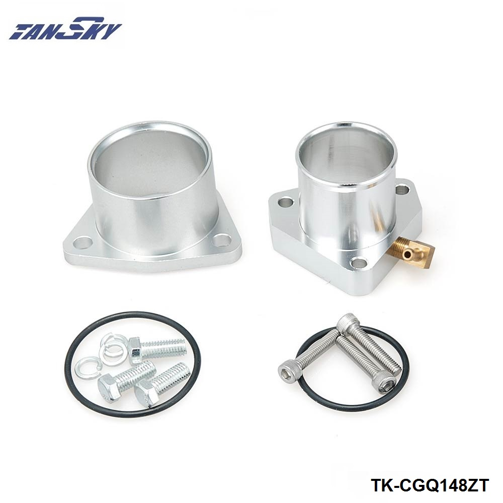 Turbo Forged Compressor Inlet + Outlet Adapter Flange For Garrett GT2560R GT2871R TK-CGQ148ZT