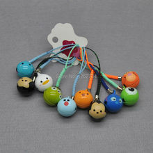 Free Shipping 100/Lot Mickey Minnie Donald Duck Lilo & Stitch Tigger Cell Phone Strap JINGLE BELLS Dangle Charms 10CM