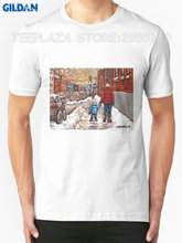 Gildan Teeplaza T Shirt Design Shop Best Canadian City Scenes Verdun Montreal Winter Scenes O-Neck Men Short Funny T Shirt(China)
