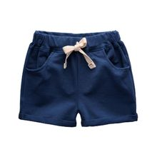 Summer Solid Colors Shorts For Baby Boy Loose Mid Waist Casual Children's Shorts