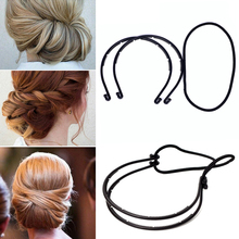 New Design Double Root Hair Hoop Head Band Adjusted Multivariant Hair Clips Adjustable Head Hoop Elastic Hair Clips(China)