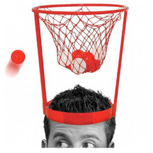Party Favors Basket Case Headband Hoop Game For Kids Funny And Novelty Game Design With 20pcs Balls toys(China)