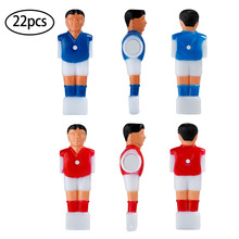 Hot Blue Red Set 22 PCS Top Quality Vivid Character Design Never Fade Foosball Soccer Table Replacement Parts Man Player(China)