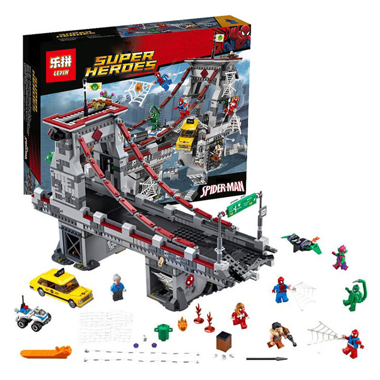 Bevle LEPIN 07038 Superhero Spider-Man Web Warriors Ultimate Bridge Battle Building Block Compatible With Legoe 76057 Toys<br><br>Aliexpress