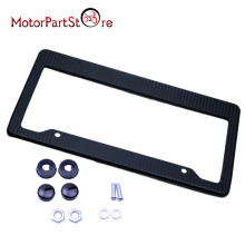 Real Carbon Fiber Type License Plate Frame Tag Cover Motorcycle Adjustable Number License Plate Mount Holder Aluminum Alloy *