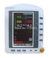 CMS6500 6-Parameters ICU Patient Monitor, ECG + NIPB + SPO2 + PR + RESP + TEMP, Touch Screen Medical Monitoring Device