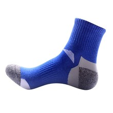 Buy Men Running Socks 2018 New Arrival Outdoor Quick Drying Sports Socks Hiking Camping Cycling Socks Half Thick Sport socks for $1.48 in AliExpress store