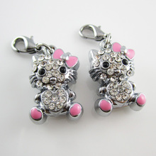 Hello kitty charm keyring,dog charm