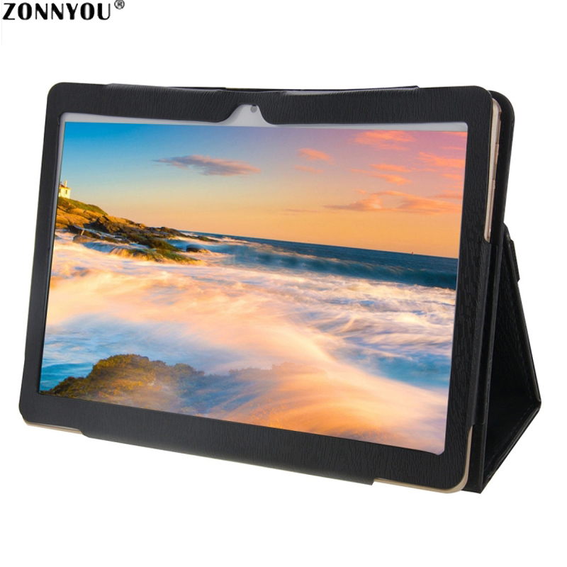 10.1 Inch Tablet PC Android 7.0 Octa Core 4GB RAM 32GB RAM HD Wi-Fi Bluetooth IPS Dual SIM and GPS FM+Leather Case(China)