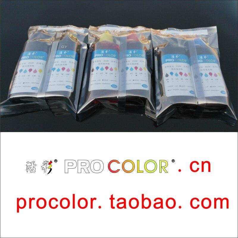 6 COLOR 850BK PGI-850XL Pigment ink CLI-851 CLI851XL BK C M Y GY Dye ink refill kit for Canon PIXMA MG7580 IP8780 inkjet printer<br>