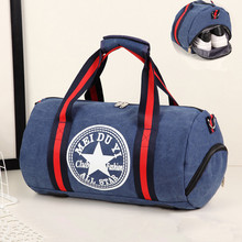 Men Canvas Sport Bag Training Gym Bag Women Fitness Bags Durable Multifunction Handbag Outdoor Sporting for Male 009