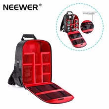 Neewer Camera Case Waterproof Shockproof 31x14x37 cm Backpack Bag with Tripod Holder for Camera Flash Accessories Black/Red(China)