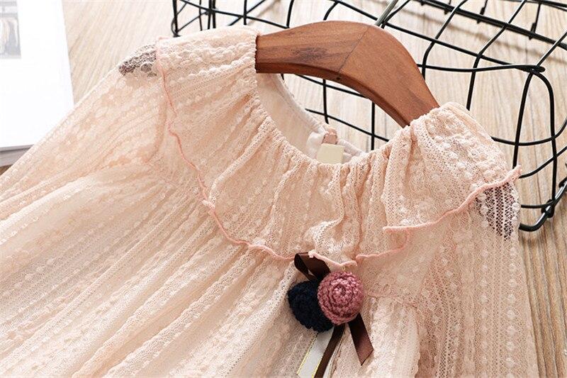 2-7 année filles robe 2018 printemps automne nouvelle mode fleur dentelle princesse robe enfant enfants robe filles vêtements filles vêtements 5