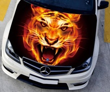 ar styling HD inkjet 135*150cm Car Engine Hood Sticker Head Fire Tiger Styling Decal Vinyl Cover Waterproof Protection Film