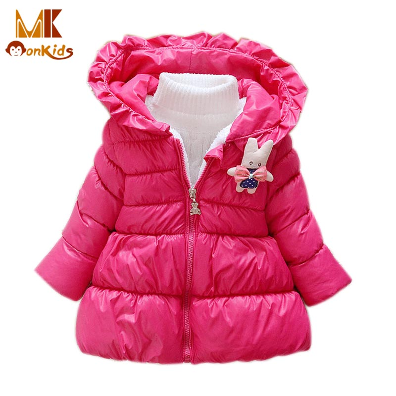 Monkids Jacket for Girls Thickening Warm Parkas Girls Coat Jacket Outerwear Down Childrens Clothing Kids Coat Fashion ParkasОдежда и ак�е��уары<br><br><br>Aliexpress