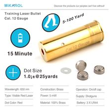 12Gauge(Light Pulse 70MS) Laser Ammo, Laser Training Bullet, Laser Bullet Cartridge for Dry Fire Training & Shooting Simulation(China)