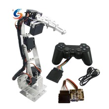 Robot 6 DOF Aluminium Clamp Claw Mount kit Mechanical Robotic Arm & MG996R Servos & 32 CH Controller for Arduino