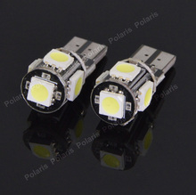 4Pcs T10 W5W LEDs 194 501 5 5050 SMD Canbus Error Free Car Interior lights Clearance Lamp Wedge Light Auto Led Bulbs DC 12V(China)