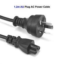 AU US EU UK CN Plug Power Cable 3 Pin Prong C5 Cloverleaf Australia Power Cord 1.2m 4ft For AC Adapters Laptop Notebook