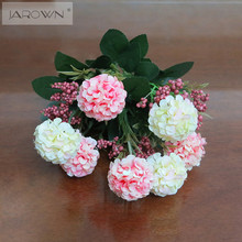 Artificial 7 HeadsBouquet Chrysanthemum Daisy Silk Flower Colorful Fake Flowers Leaves Home Garden Party Decor Flores