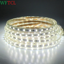 WFTCL Brilliant Custom Cut 120 Volt SMD-5050 LED Strip Light bright waterproof LED lighting for house building exterior lighting