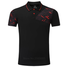 Golf shirts Mens Badminton T-Shirts Snel Droog tennis shirt sport badminton kleding badminton korte mouw POLO T-shirts Running(China)