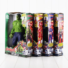 30cm 4 Styles Avengers Hero Captain American Hulk Iron Man Thor Action Figure Toy Christmas Gift For Kids