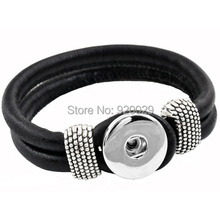 Buy P00003 10color Snap Button Bracelet&Bangles Newest real leather Bracelet Women 18mm charm button Rivca Snap Button Jewelry for $3.40 in AliExpress store